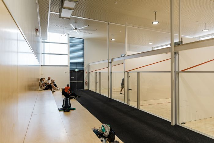 Squash Court Seating area - Expansion Project